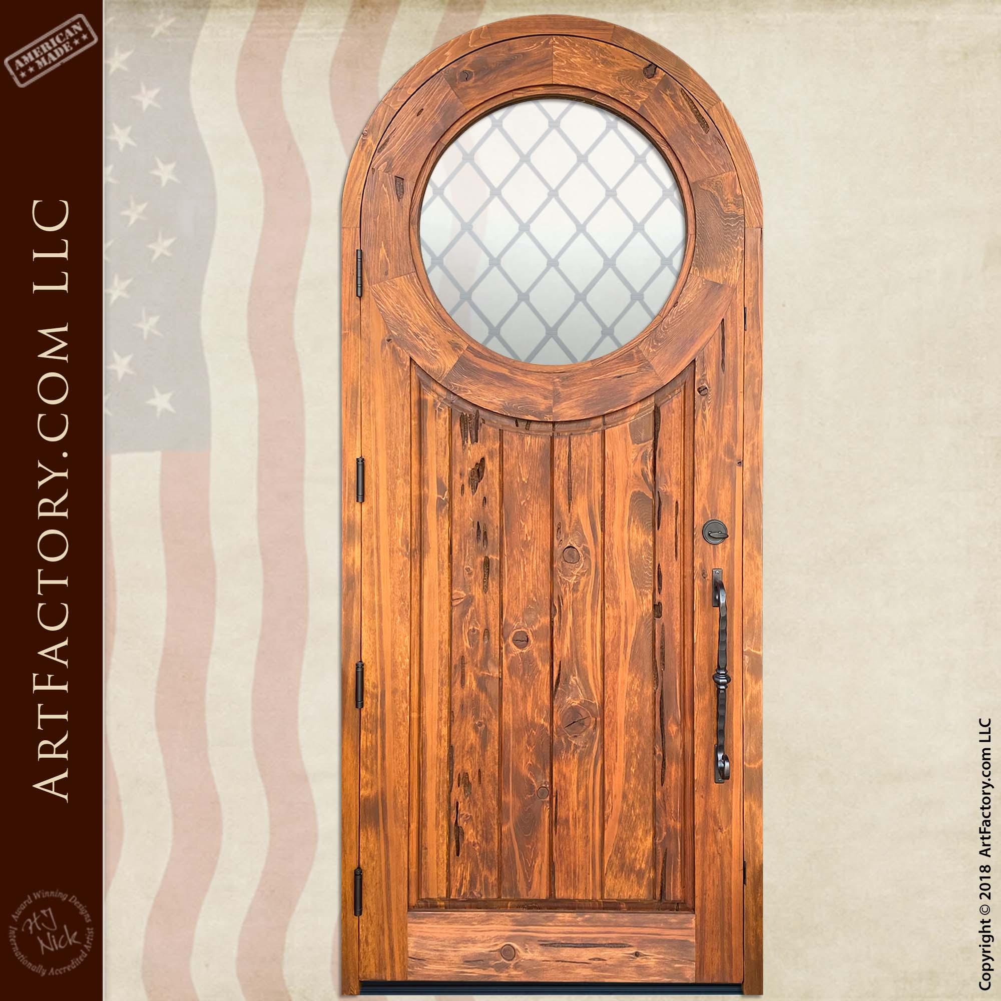 Wooden Medieval Door back