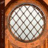 hand forged Harlequin pattern window grill