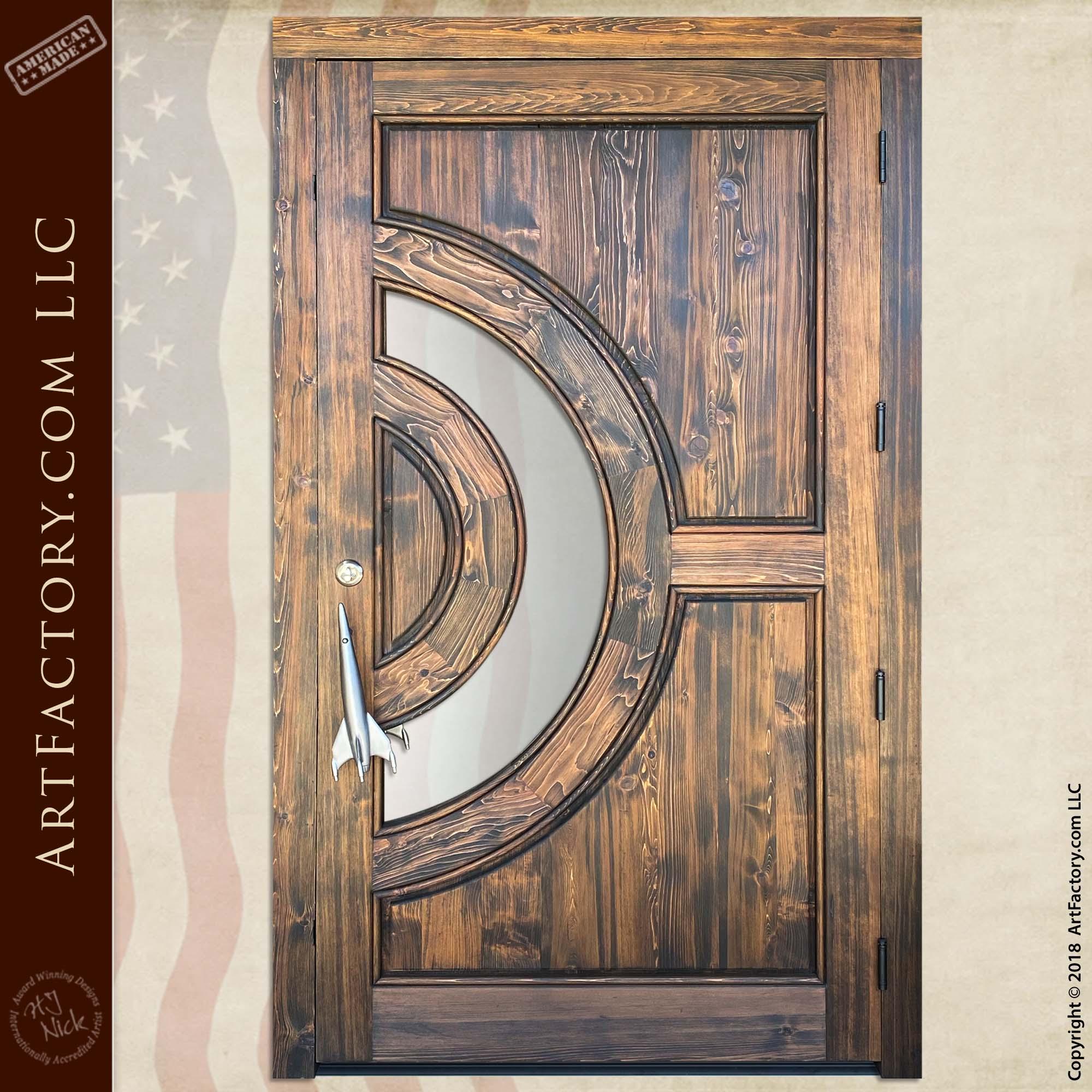 custom astronomy theme door back
