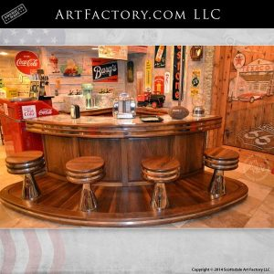 custom retro soda fountain bar