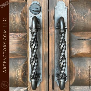 iron twist door pulls