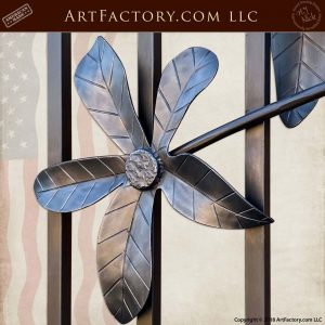 hand forged iron flower