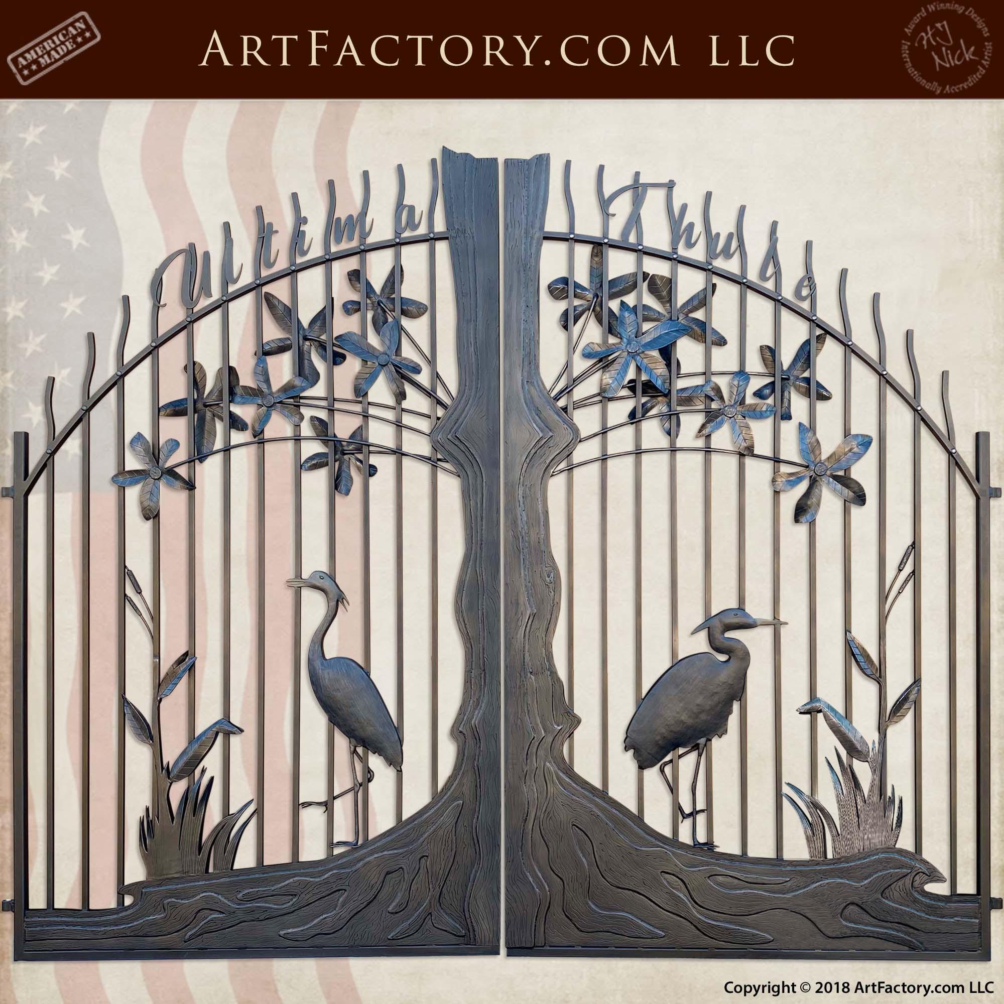 fine art iron estate gate