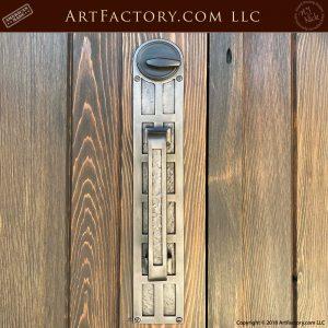 solid iron door pull