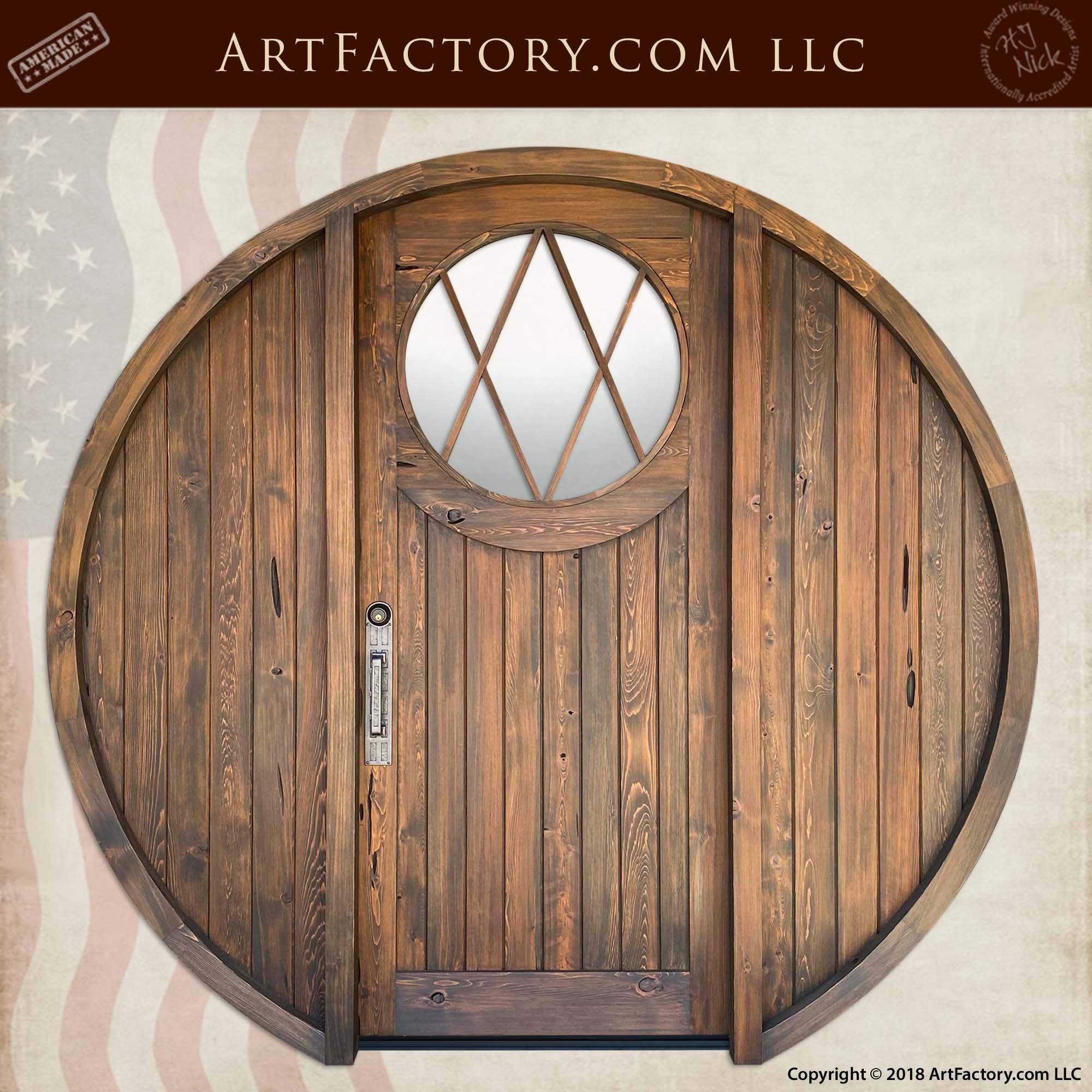 Custom Round Hobbit Door