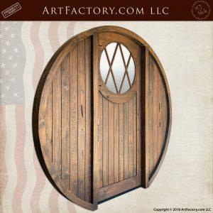 Custom Round Hobbit Door angle