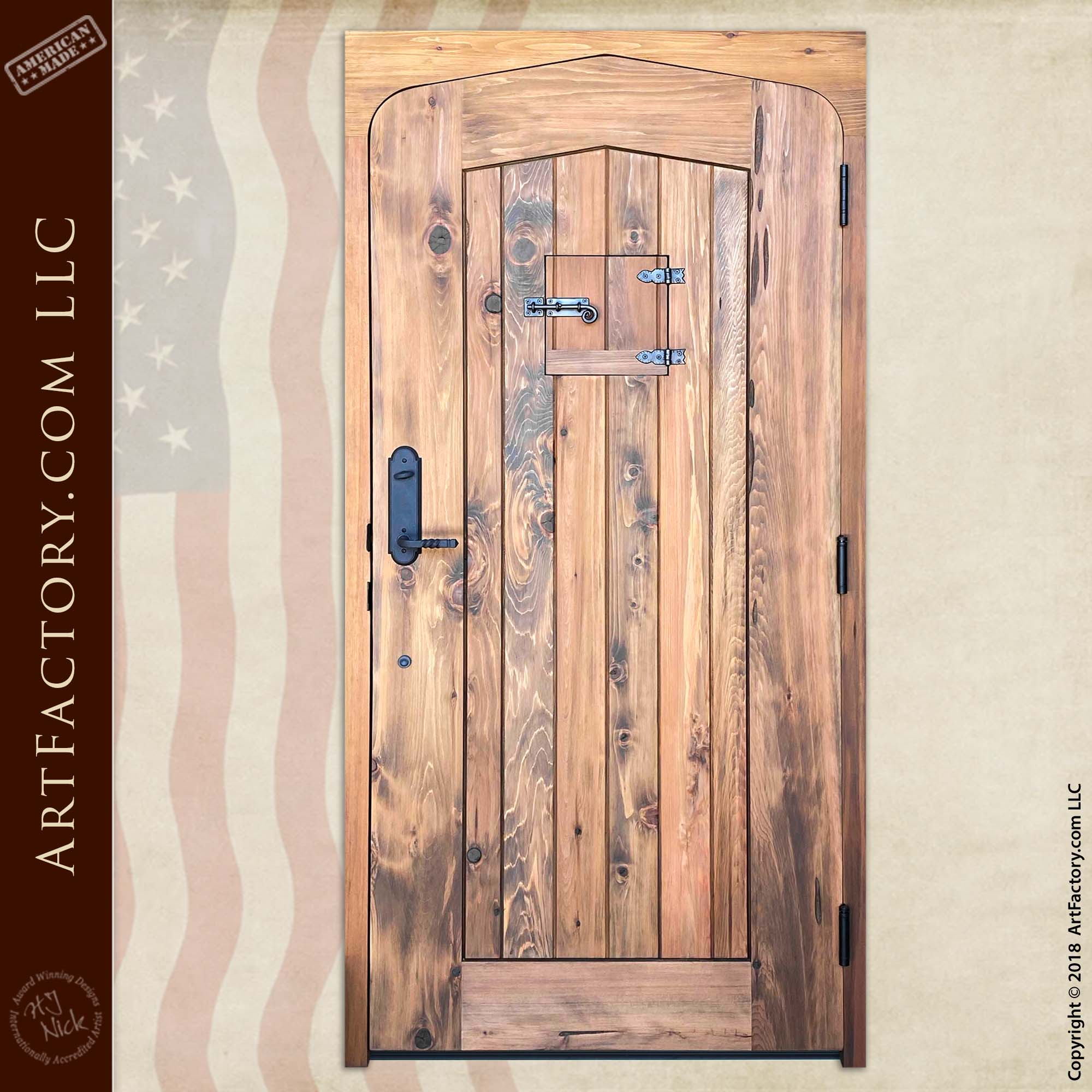 Custom Tudor Arch Door back