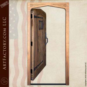 Custom Tudor Arch Door in open position