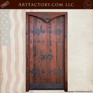 Reverse Cathedral Arch Solid Wood Doors