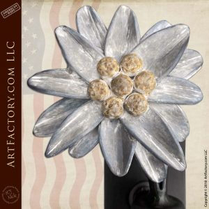 Custom Edelweiss Flower Door Pull