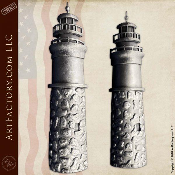 Custom Iron Lighthouse Door Pulls