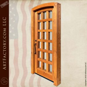 Eyebrow Arch Solid Wood Door with Wood Mullions