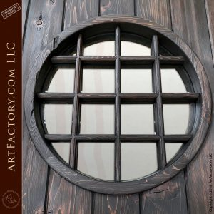 Solid Wood Vertical-Planked Doors with Custom Windows