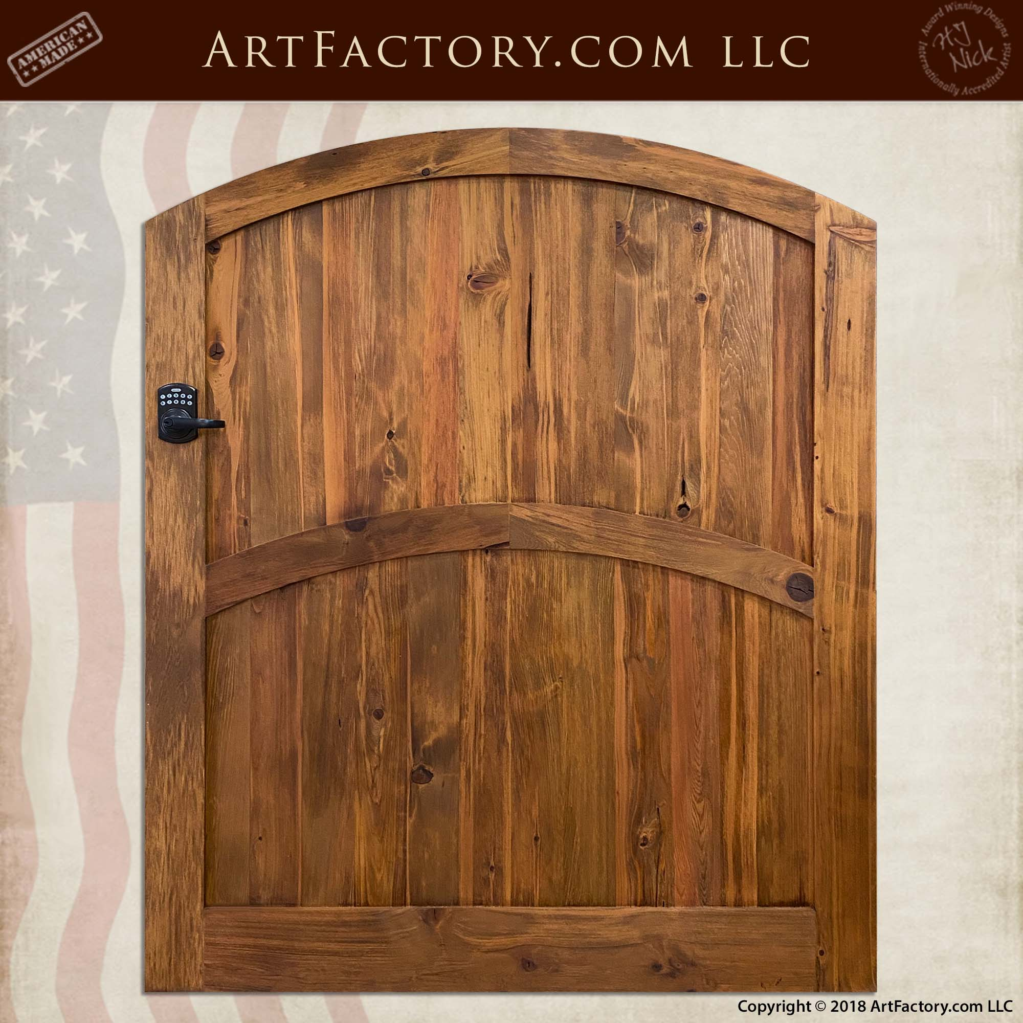 Solid Wood Courtyard Gate