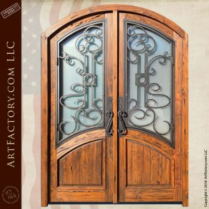 Solid Wood & Iron French Door Design