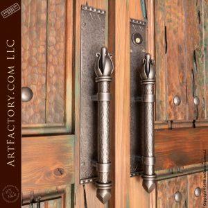 medieval iron door handles