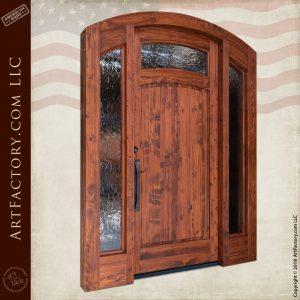 arched craftsman entrance door