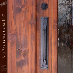 hand forged iron door handle