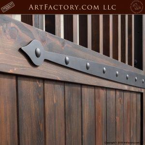 decorative iron strap hinge