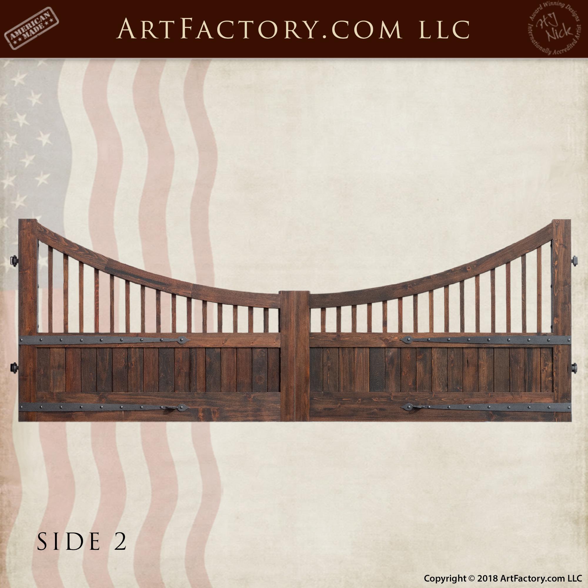Custom Wood Auto Opening Estate Gate