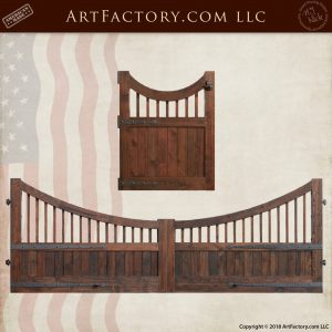 matching inverted arch wood gates