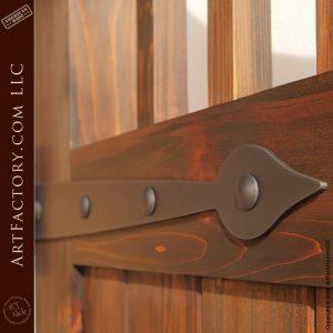 ornamental iron hinge strap