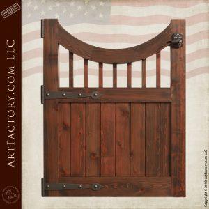 Solid Wood Garden Gate Keypad Lock