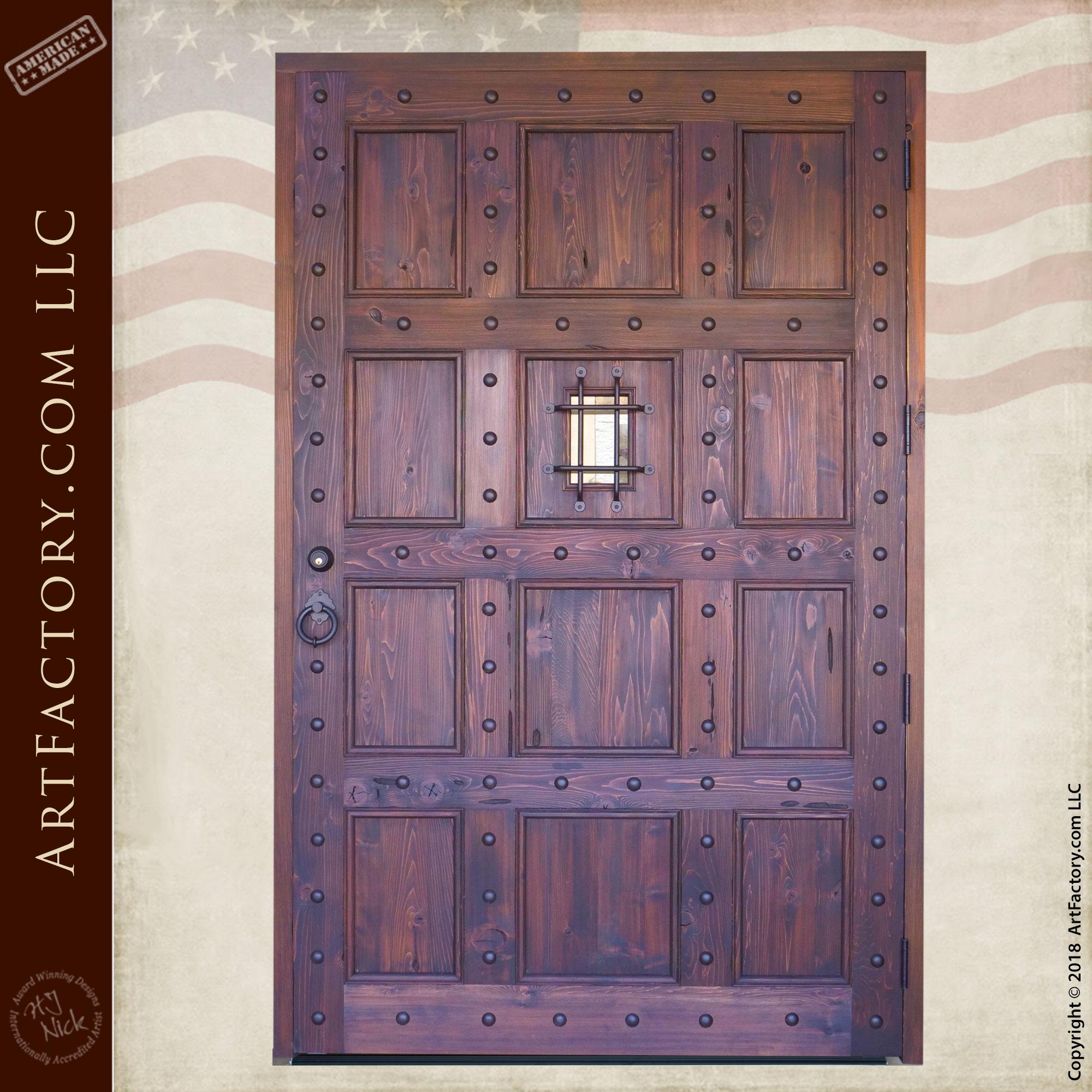 Large Wooden Castle Door