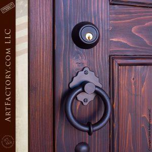 iron ring door pull