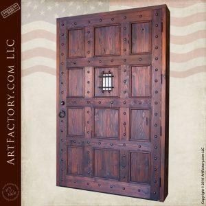 12 panel castle door back