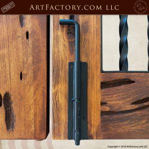 iron slide bolt lock