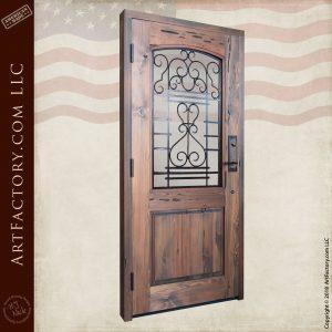 custom fine art door back angled