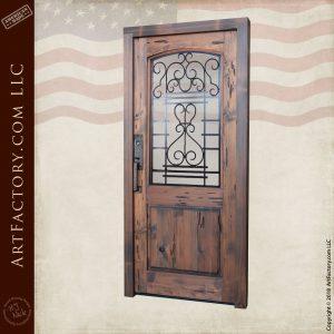 custom fine art door front angled