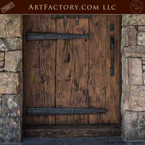 Weathered Wood Craftsman Door middle