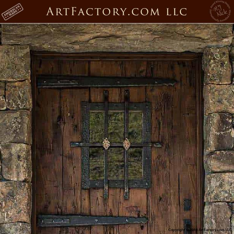 Weathered Wood Craftsman Door top