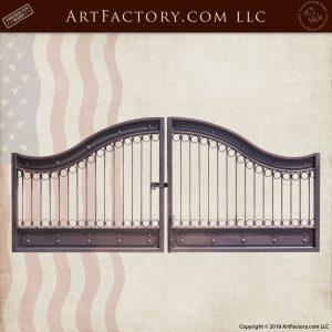 Custom Iron Estate Gate