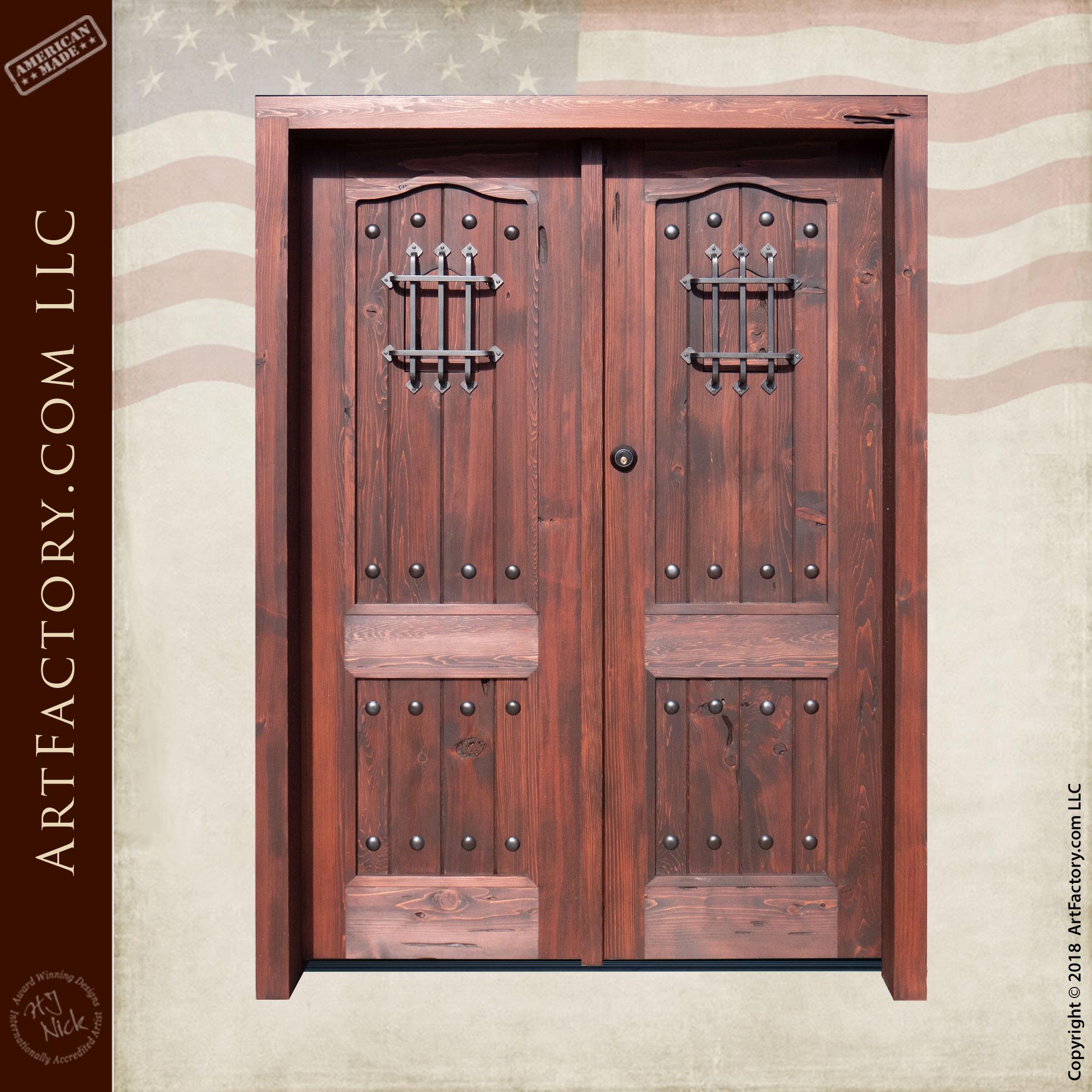 Large Solid Custom Double Wooden Doors