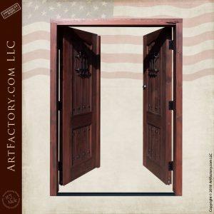 custom speakeasy double doors open position