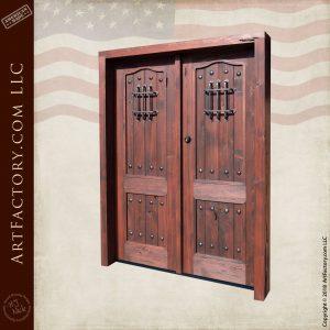 double speakeasy doors angled view