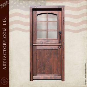 Custom Wooden Dutch Door