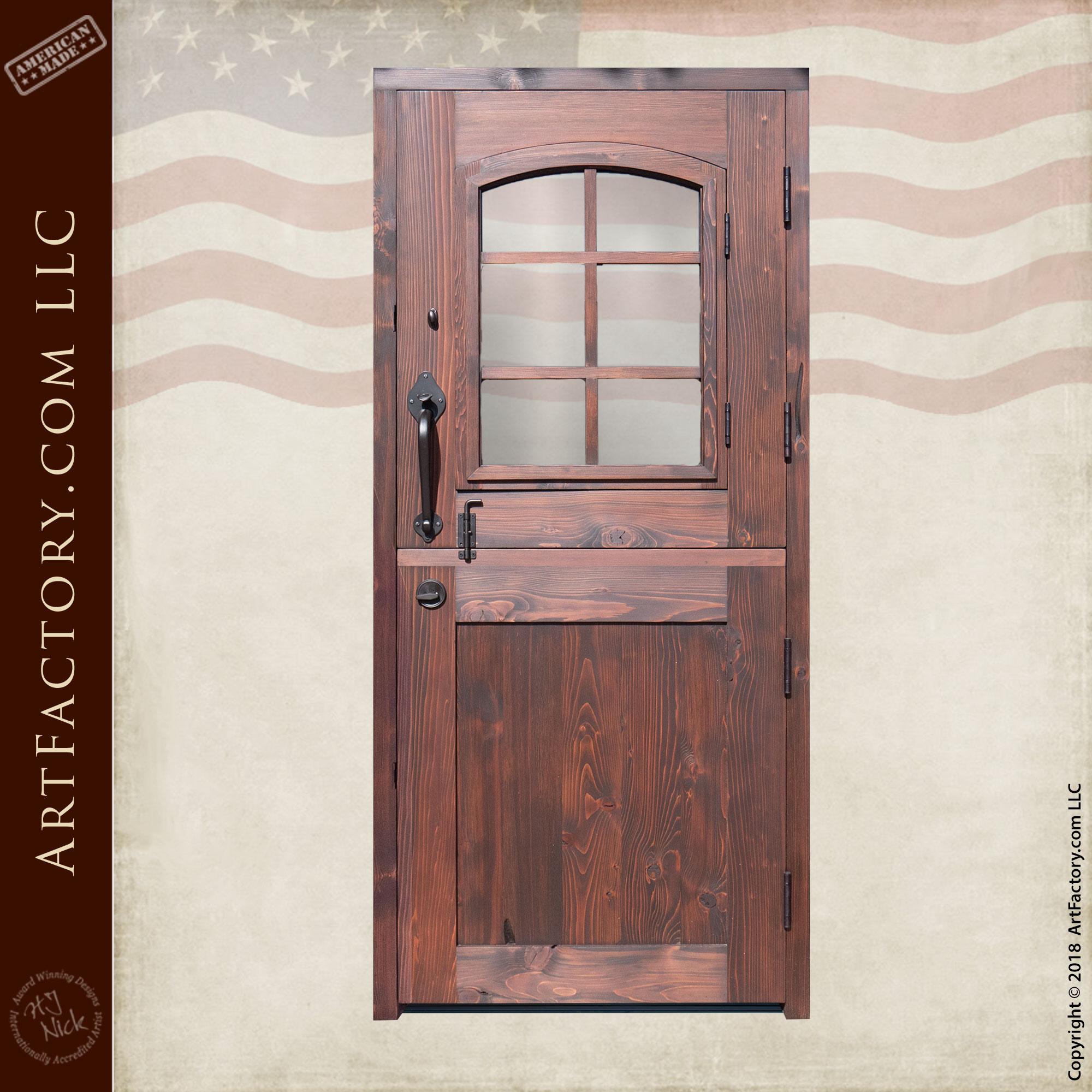 Custom Wooden Dutch Door back