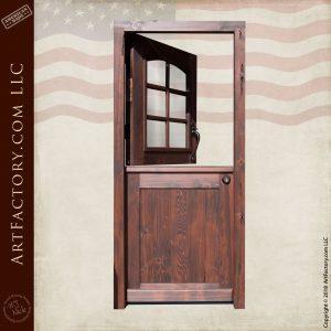 Custom Wooden Dutch Door with top open