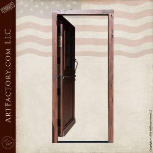 Custom Wooden Dutch Door full open position