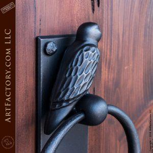 bird themed door knocker