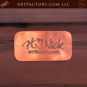 H.J. Nick Signature plate