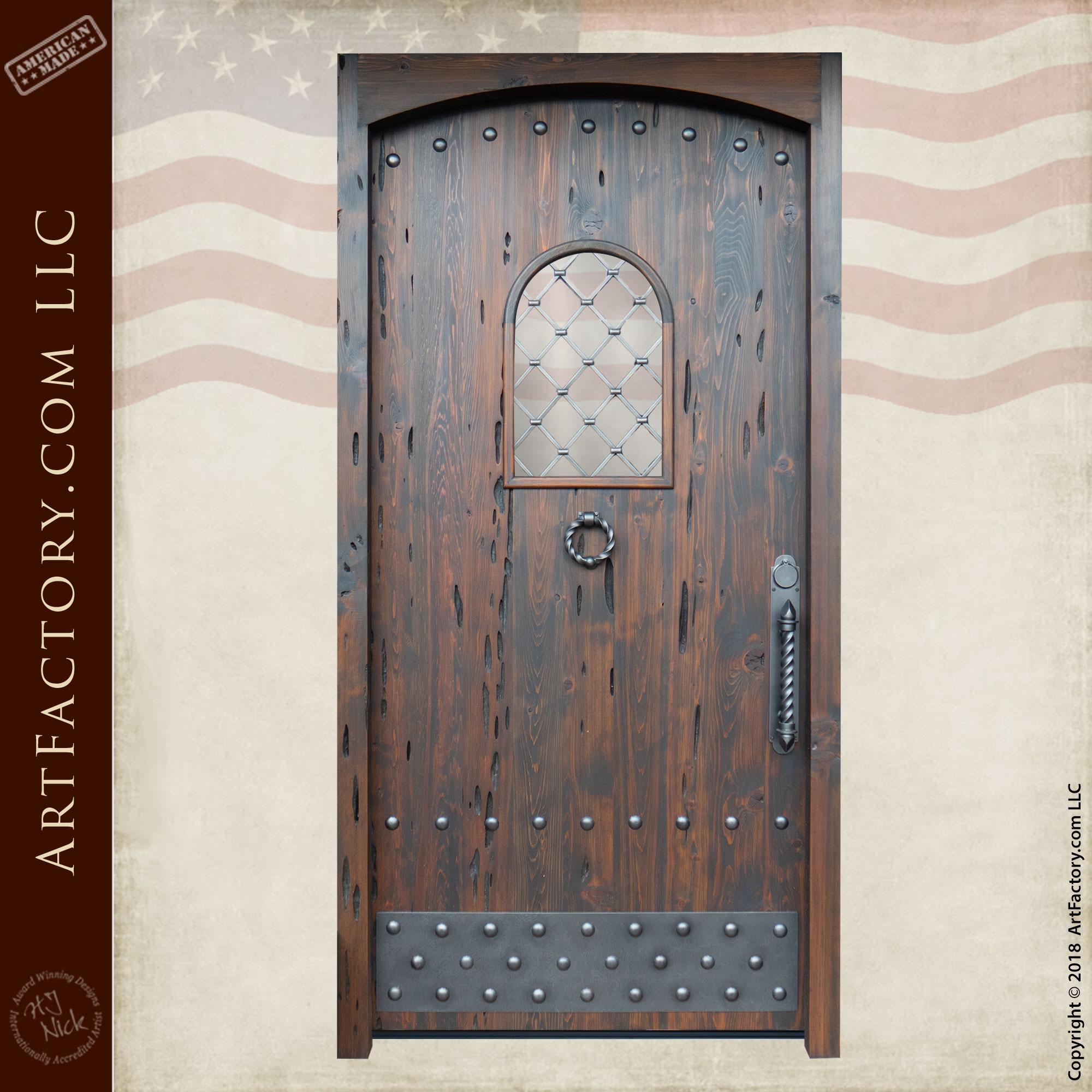 Large-Wooden-Castle-Style-Custom-Door-10