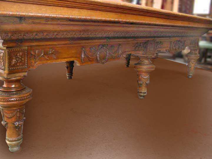 Carom Pool Tables Vintage Billiard Tables Hand Carved