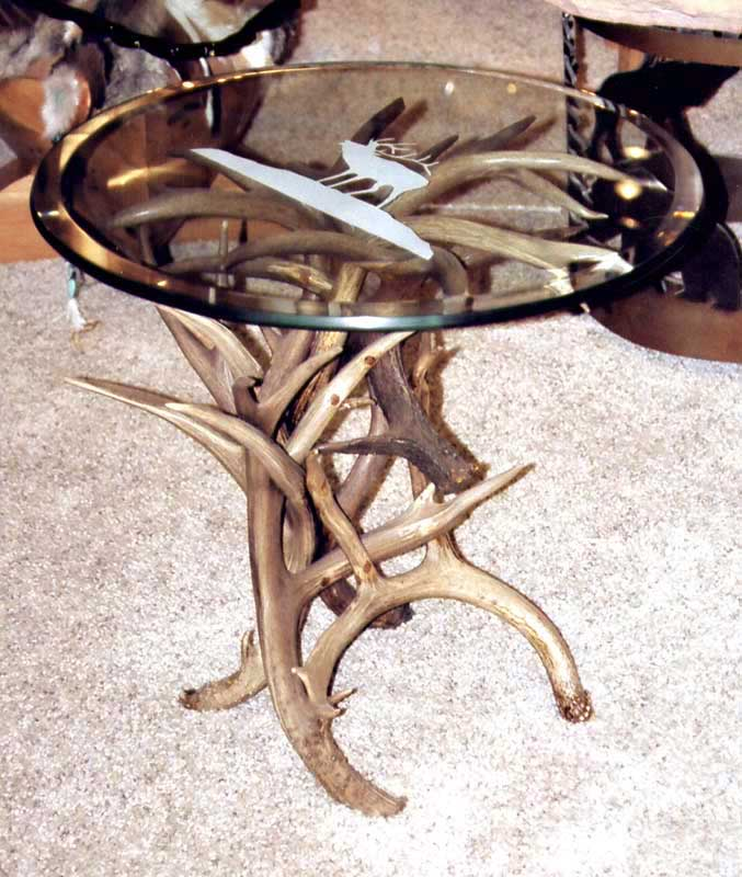 Round Antler Table