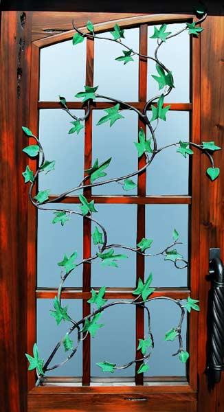 Iron Door Hand Forged Vines Custom Built Doors