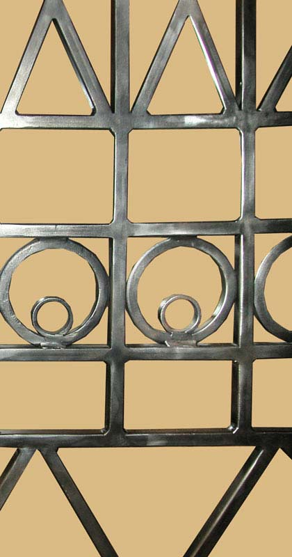 Security Iron Door Grill Decorative Hand Forged Iron Door